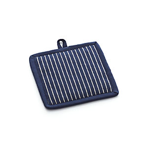 Carbon Blue Stripe Pot Holder