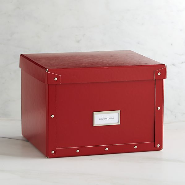 Bigso® Red Card Box