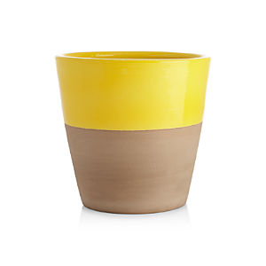Carnivale Large Yellow Planter