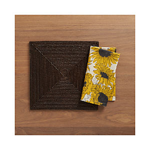 Casablanca Square Placemat and Sunflower Napkin