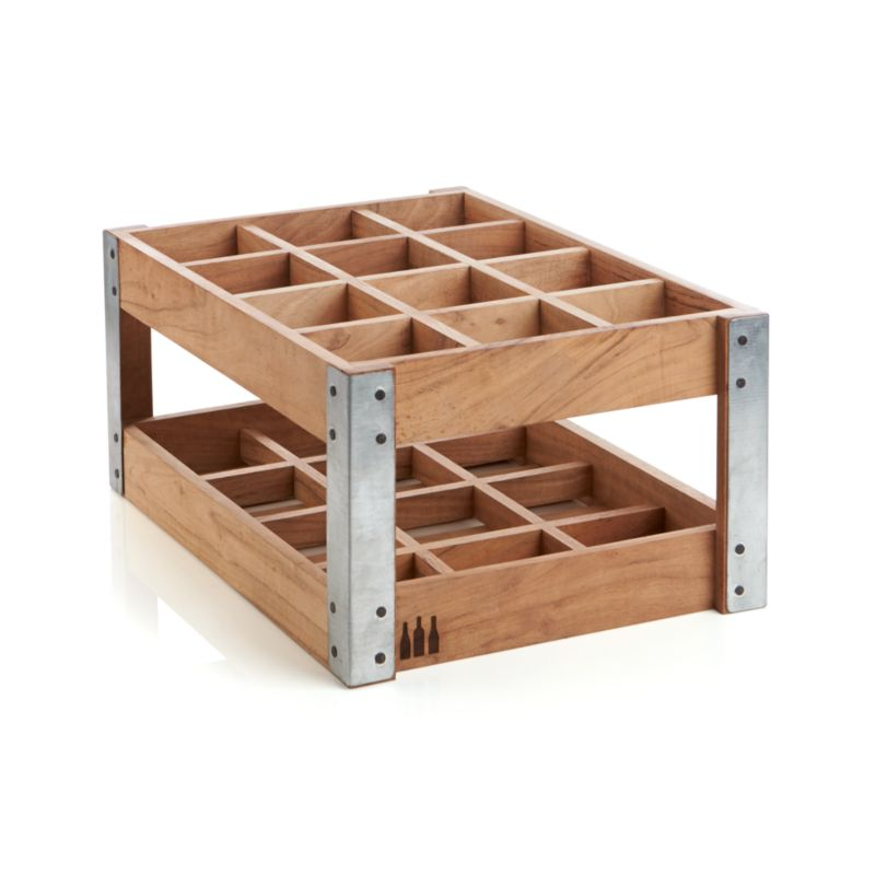 wine rack crate and barrel