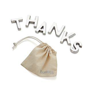 "Cast Aluminum ""Thanks"""
