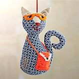 Cat with Body Purse and Glasses Ornament