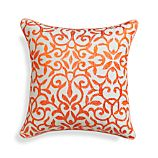 "Catania Coral 16"" Pillow with Feather Insert"