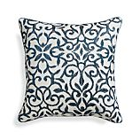 "Catania Indigo 16"" Pillow with Down-Alternative Insert"