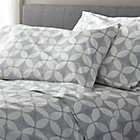 Cate Blue Full Sheet Set.Includes one flat sheet, one fitted sheet and two standard pillow cases.