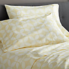 Cate Yellow Full Sheet Set.Includes one flat sheet, one fitted sheet and two standard pillowcases.