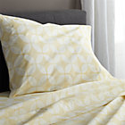 Cate Yellow Extra-Long Twin Sheet Set. Includes one flat sheet, one fitted sheet and one standard pillowcase.