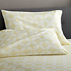 Set of 2 Cate Yellow Standard Pillowcases.