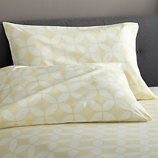 Cate Yellow King Pillowcases Set of Two