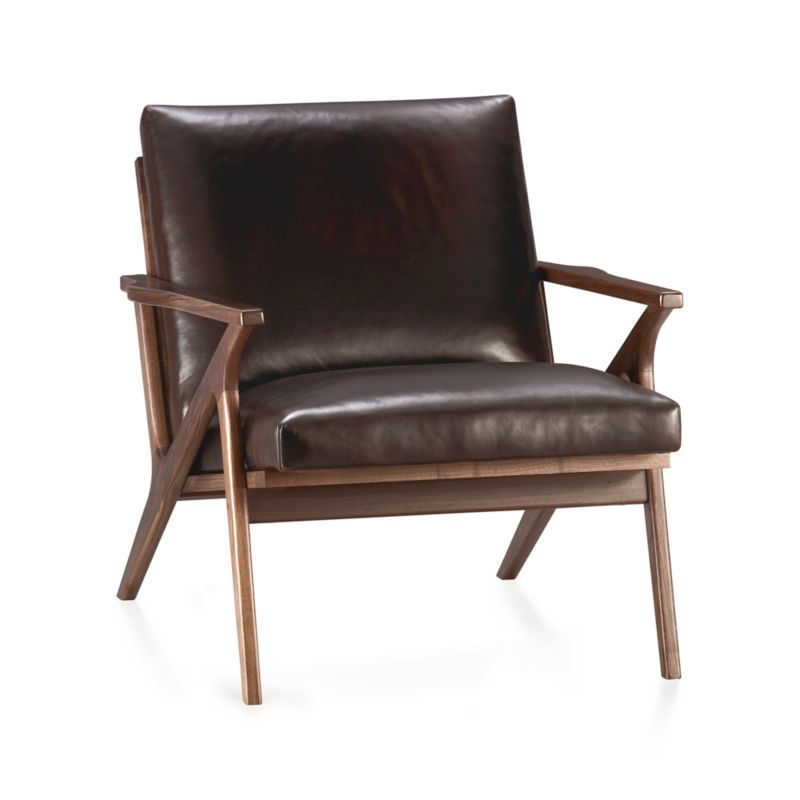 Cavett Leather Chair Sumatra Crate And Barrel