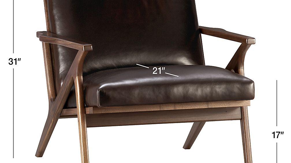 Cavett Leather Chair Dimensions