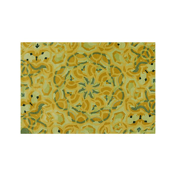 Cecily Ochre Yellow Wool 6'x9' Rug