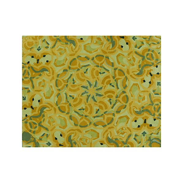 Cecily Ochre Yellow Wool 8'x10' Rug