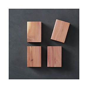 Set of 4 Lavender Cedar Blocks