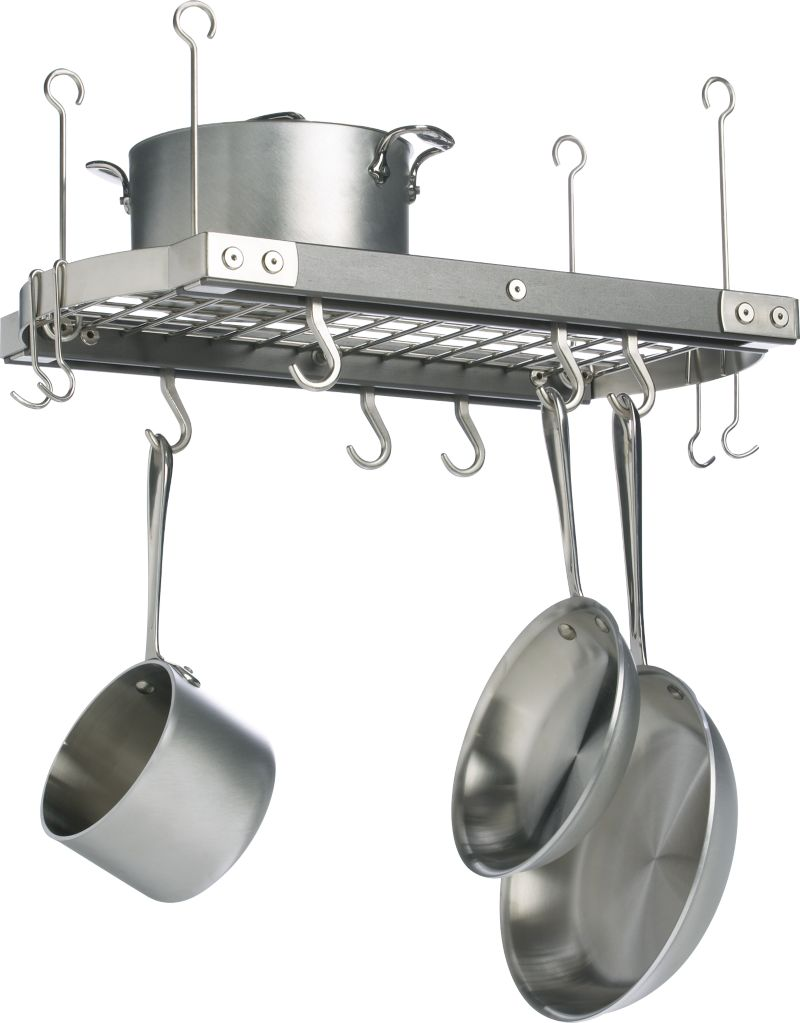 Small kitchen pot rack for Pot racks for kitchen