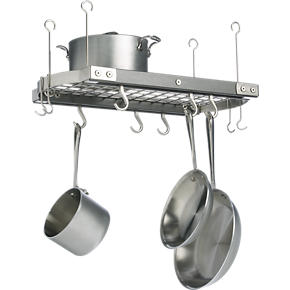 Small Grey Ceiling Pot Rack