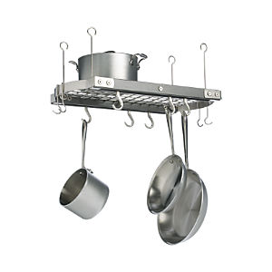 J.K. Adams Small Grey Ceiling Pot Rack