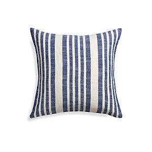 "Celena Blue Stripe 23"" Pillow"