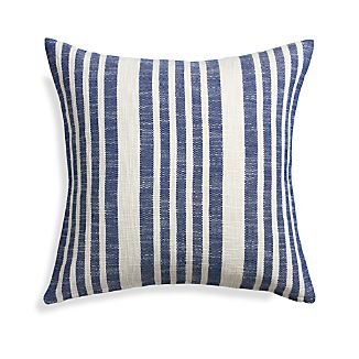 "Celena Blue Stripe 23"" Pillow"