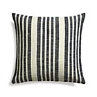 Celena Midnight Stripe Pillow  with Feather Insert.