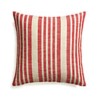 Celena Red Stripe Pillow with Feather Insert.