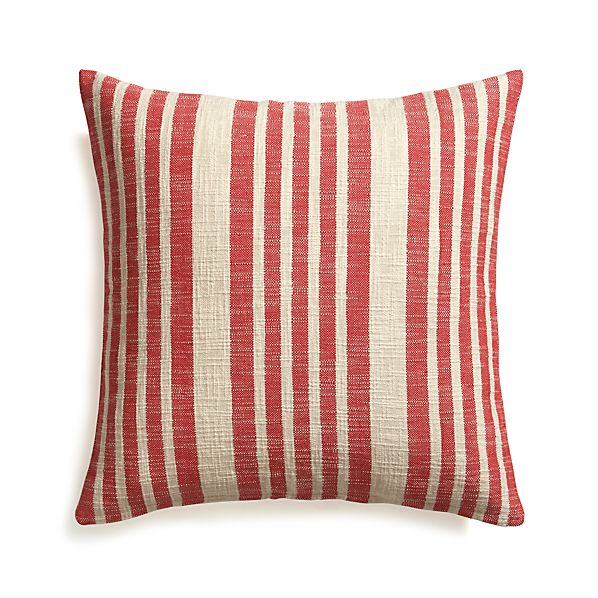 "Celena Red Stripe 23"" Pillow"