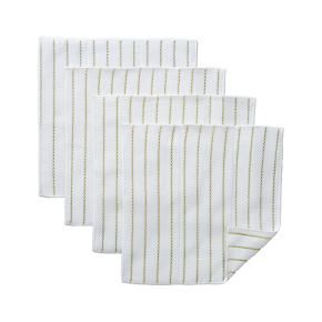Set of 4 Celery Stripe Scrub Cloths