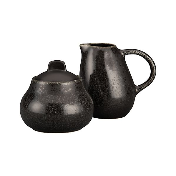 Jars Celeste Sugar Bowl with Lid and Creamer