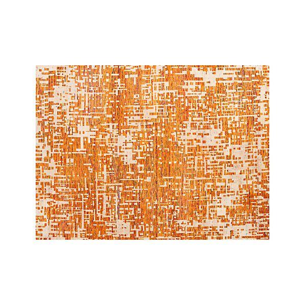 Celosia Orange 9 X12 Rug Crate And Barrel