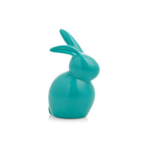 Ceramic Blue Mini Bunny