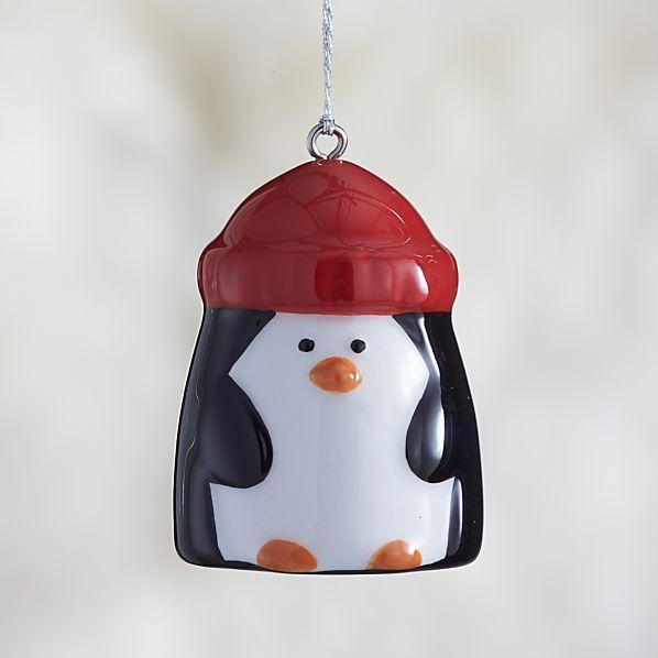 Penguin Ceramic Christmas Ornament
