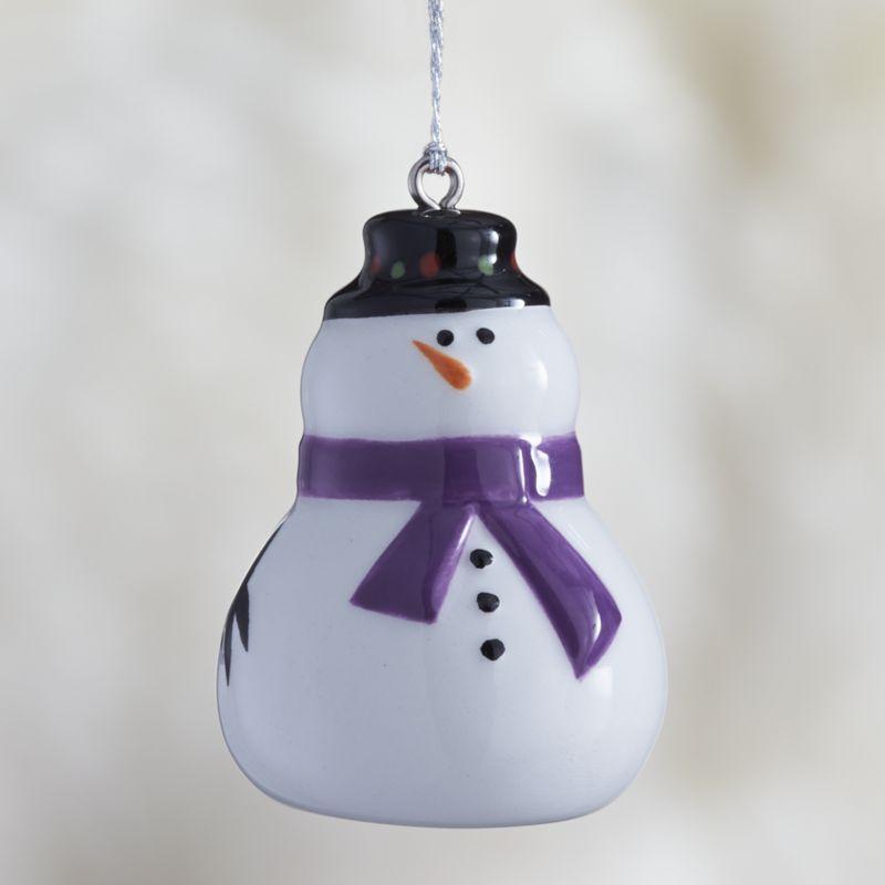Snowman Ceramic Christmas Ornament