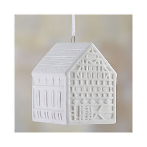 "Ceramic 4"" House Ornament"