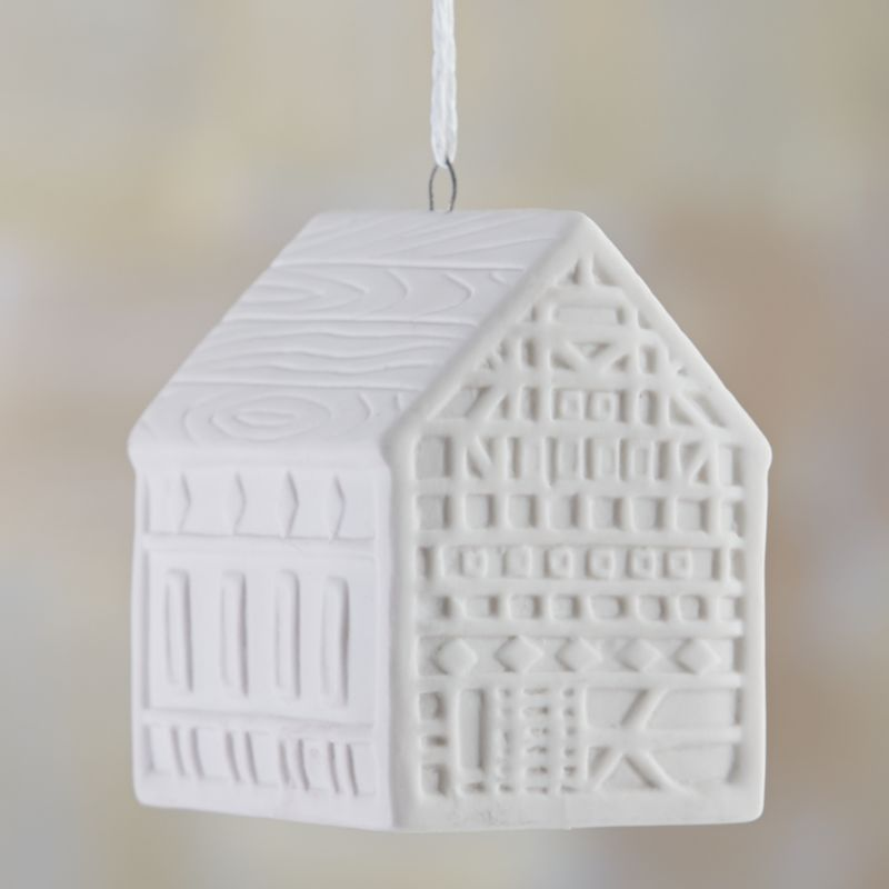 4 Inch Tall House Ornament