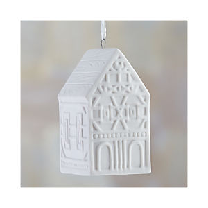 "Ceramic 3.5"" House Ornament"