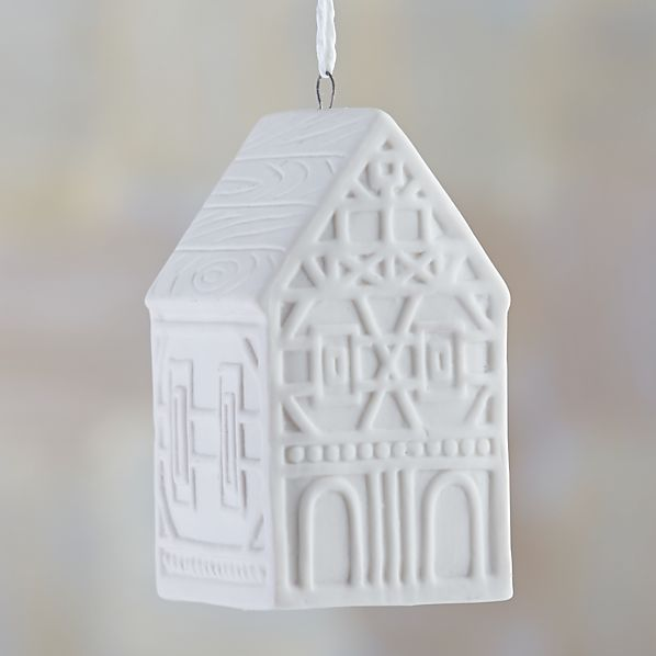 3.5 inch tall house ornament
