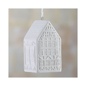 "Ceramic 3"" House Ornament"