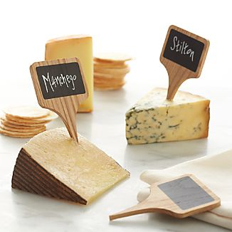 Chalkboard Cheese Markers Set of Six