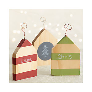 Chalkboard House Ornaments Set of Three