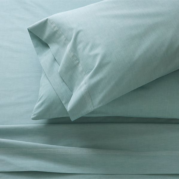 Chambray Blue King Sheet Set