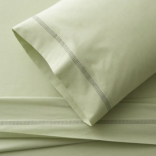 Chambray Green Twin Sheet Set