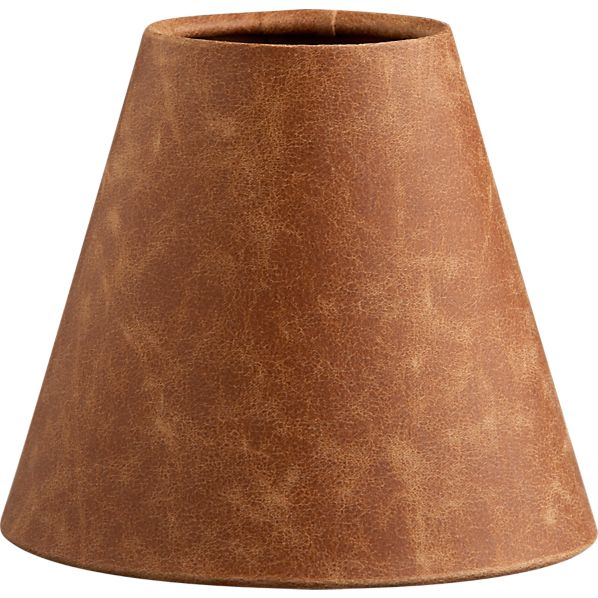 Faux Leather Chandelier Shade
