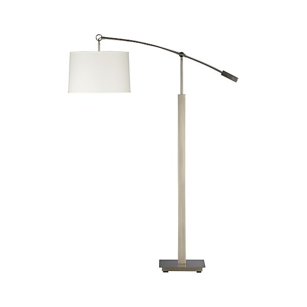 Charles Nickel Floor Lamp in Floor Lamps, Torchieres | Crate and ...