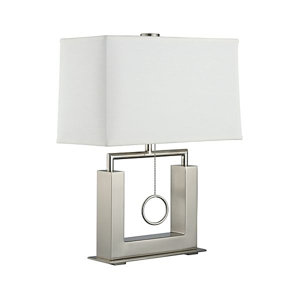 charles nickel table lamp crate and barrel. Black Bedroom Furniture Sets. Home Design Ideas