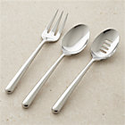 Charlotte 3-Piece Serving Set: serving fork, pierced serving spoon, serving spoon.