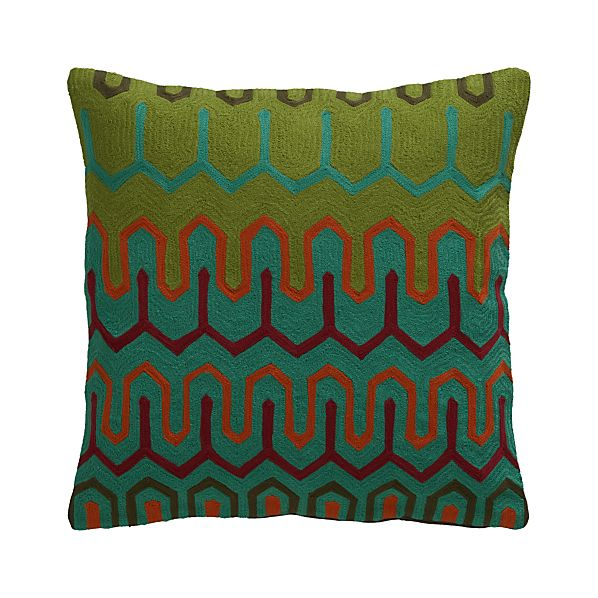 "Chea 18"" Pillow with Feather-Down Insert"