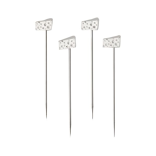 Set of 4 Cheese Wedge Picks