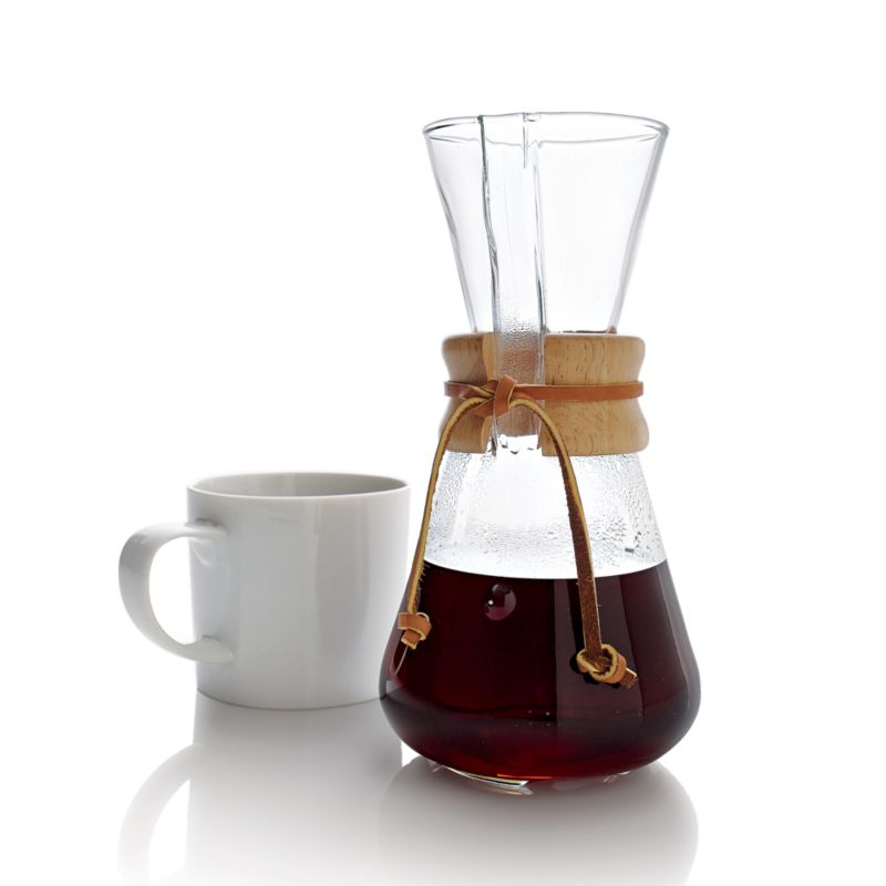 Pour Over Coffee Maker Crate And Barrel : Chemex 3-Cup Coffee Maker Crate and Barrel