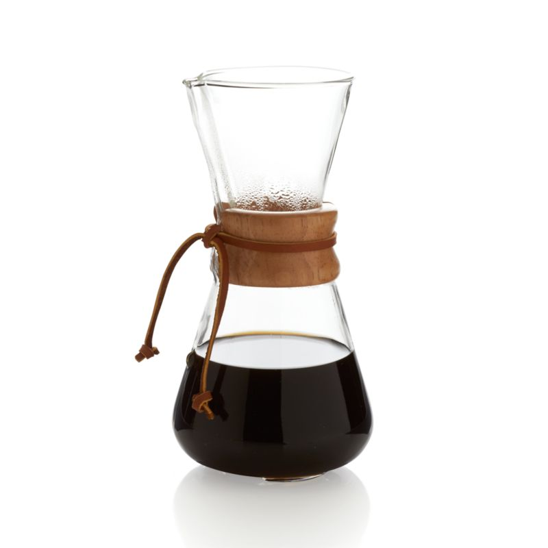 Chemex Manual Coffee Maker : Chemex 3-Cup Coffee Maker Crate and Barrel